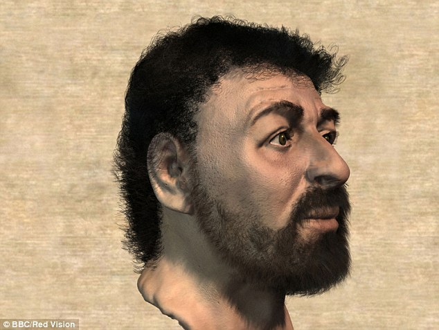 "Realistic face of ""Jesus""created by scientist using Galilee-era Semite skulls."