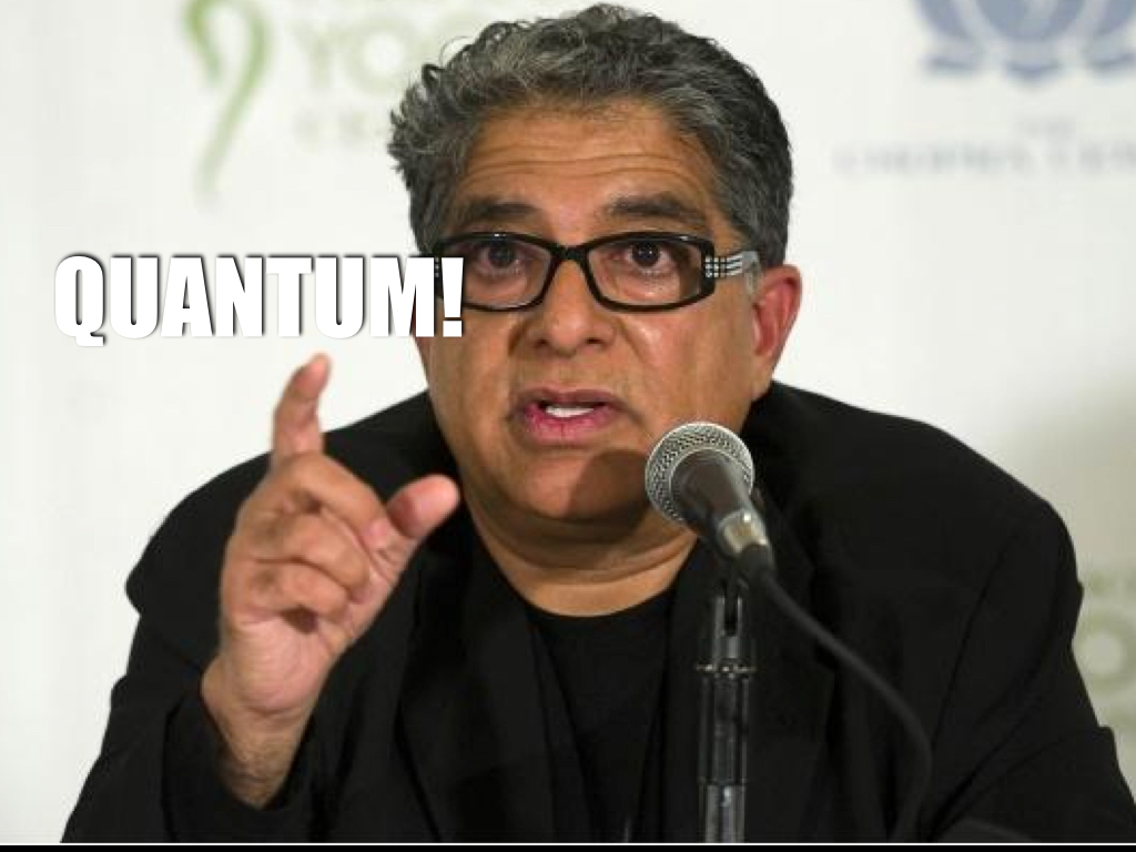 Deepak Chopra Says Bacteria Listen To Our Thoughts.