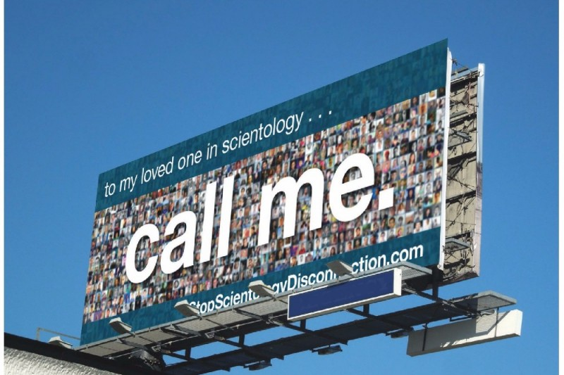 New Billboard Asks Scientologists To Reconnect With Estranged Loved Ones.
