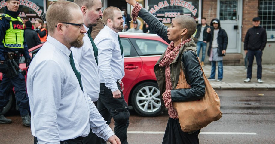 How One Woman Stood Up to 300 Swedish Neo-Nazis.