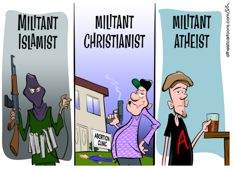 How to Fight Extremism with Atheism.