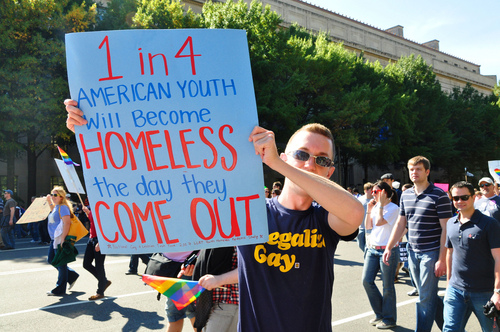 Rising Number of Homeless Gay Teens Being Cast Out by Religious Families.