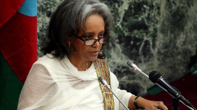 Ethiopia elects its first woman president.