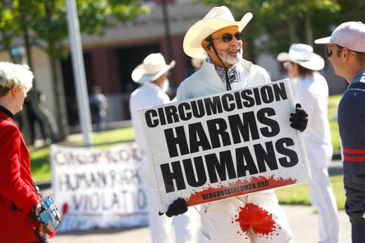 Male circumcision needs to be seen as barbaric and unnecessary as female genital mutilation.