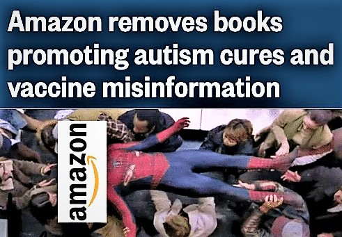 Amazon removes books promoting autism cures and vaccine misinformation.
