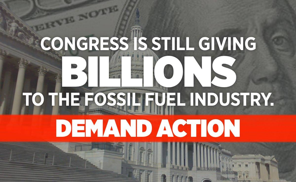 U.S Spends Ten Times More On Fossil Fuel Subsidies Than Education.
