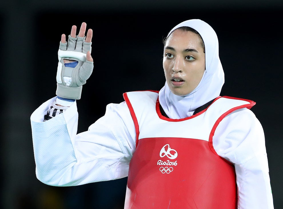 Iran's sole female Olympic medalist has defected.